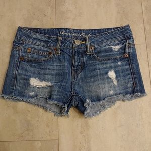 Americam Eagle Light Wash Denim Shorts 0